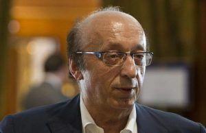 L' ex direttore generale della Juventus Luciano Moggi