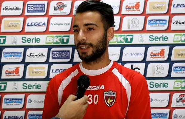 Luca Garritano, attaccante del Cosenza